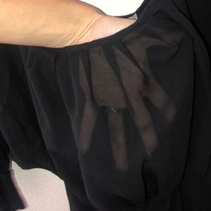 Charlotte Russe Tops - Sheer polyester dress top